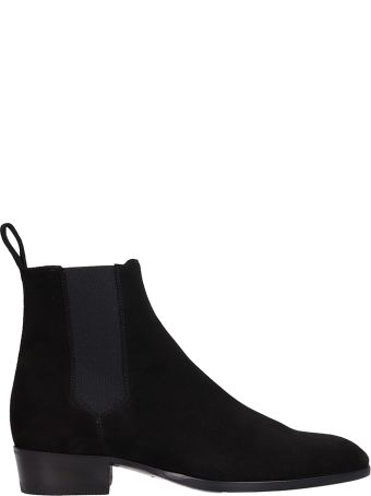 Barbanera Black Suede Beatles Ankle Boots