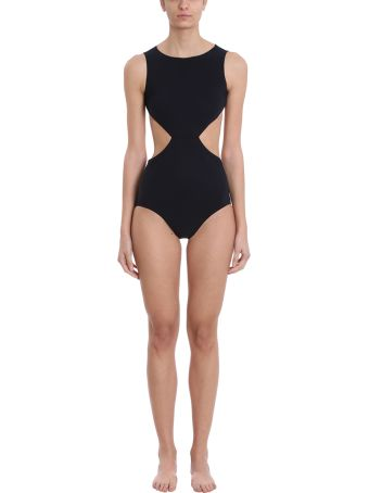 Rick Owens One Piece Babel Notched Swimsuit