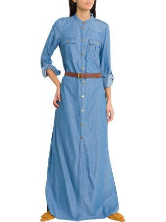 MICHAEL Michael Kors Denim Shirt Dress With Belt
