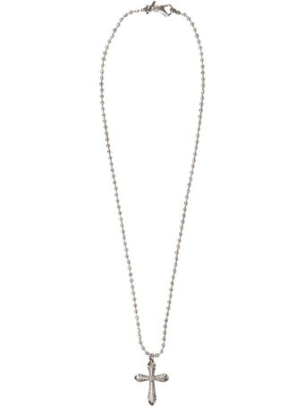 Emanuele Bicocchi Cross Silver Necklace