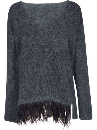 Alysi Fringed Detail Sweater