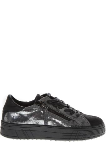 Crime london Silver Leather Low-top Sneakers