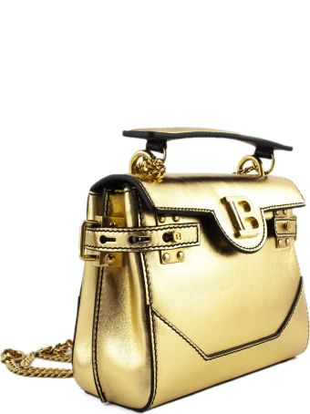 Balmain Gold B-buzz 18 Backpack