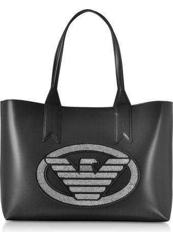 Emporio Armani Signature Medium Tote Bag