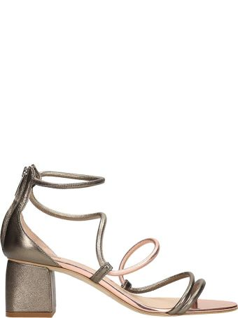 The Seller Grey Leather Sandals