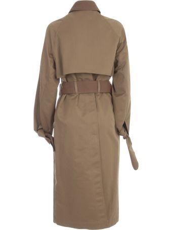 Victoria Beckham Tie Sleeve Trench Coat