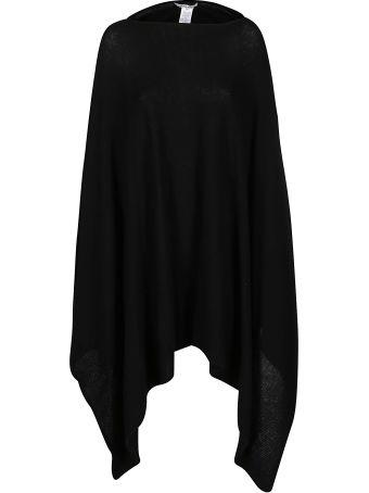 Agnona Black Cashmere Cape