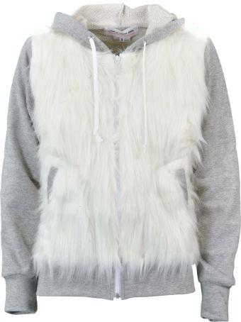 Comme Des Garçons Girl Comme Girl Fur Detail Hoodie