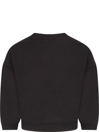 Givenchy Black Sweatshirt With Logo For Girl