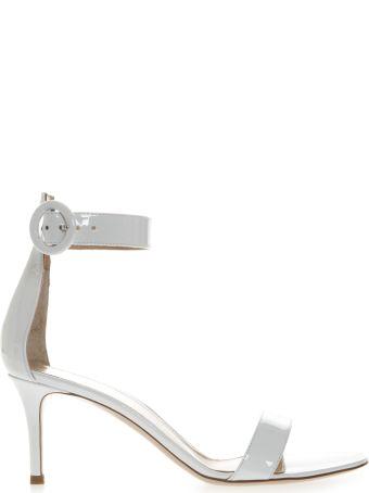 Gianvito Rossi Portofino White Patent Leather Sandals
