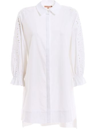 Ermanno Scervino Lingerie Embroidered Sleeve Shirt