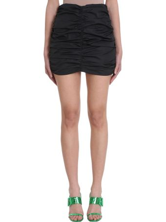 ATTICO Black Mini Skirt