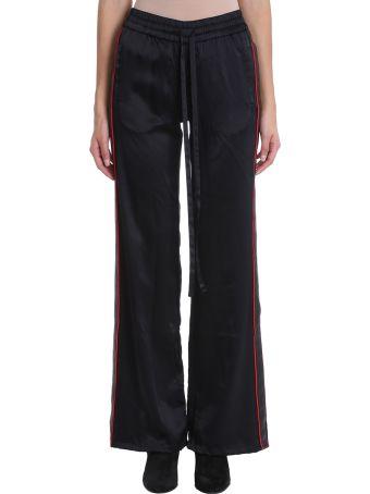 AMIRI Black Silk Trousers