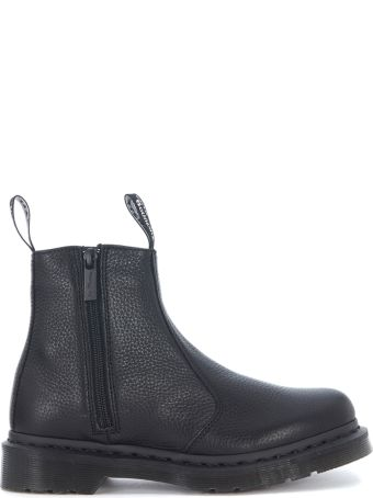 Dr. Martens Black Nappa Leather Beatle With Double Zip