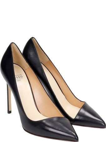Francesco Russo Pumps In Black Leather