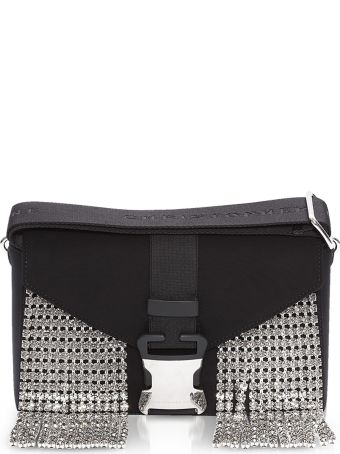 Christopher Kane Black Neoprene & Crystals Devine Og Bag