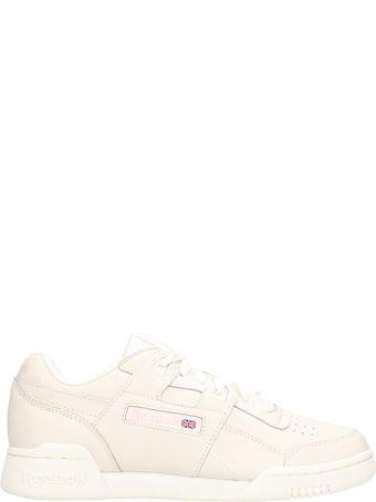 Reebok Workout Lo Plus Beige Leather Sneakers