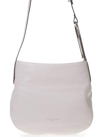 Gianni Chiarini White Leather Shoulder Bag