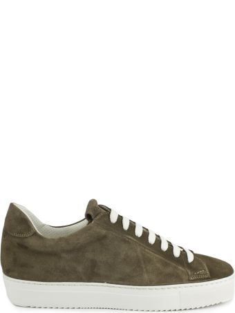 Doucal's Sneakers In Brown Suede Leather