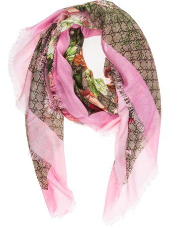 Gucci  Shawl Shoulder Wrap Spring Bouquet