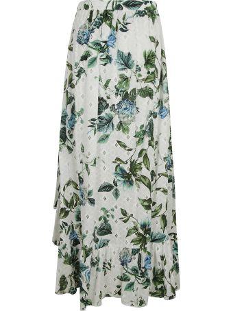 Blumarine Floral Printed Asymmetric Skirt