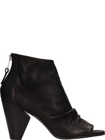 Strategia Boston Black Calf Leather Ankle Boot