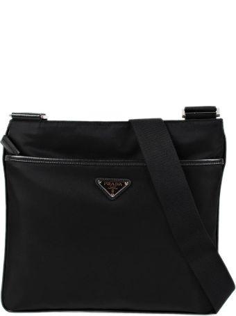 Prada Logo Plaque Classic Messenger Shoulder Bag