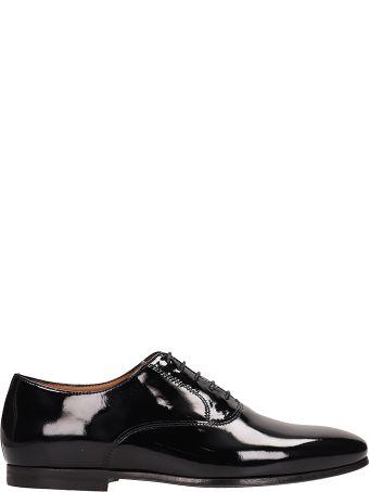 Lanvin Black Patent Leather Laces