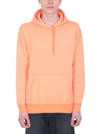 John Elliott Orange Cotton Hoodie