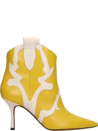 Marc Ellis Yellow And White Ankle Boots