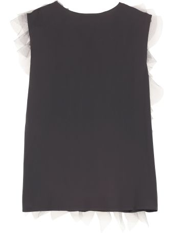 Fabiana Filippi Ruffled Crepe Top