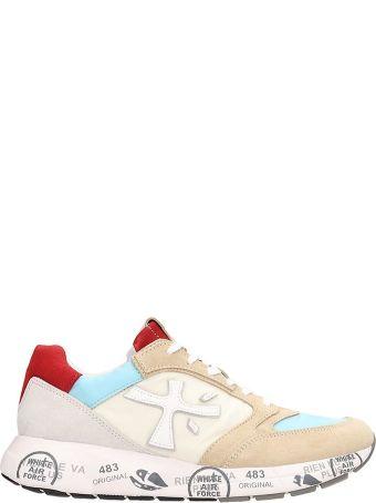 Premiata Beige Nylon Zaczac Sneakers