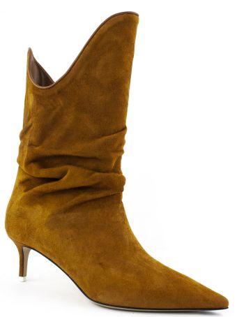 The Attico Brown Suede Boot