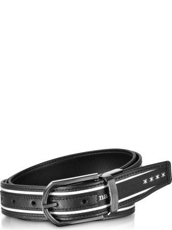 Ermenegildo Zegna Signature Canvas And Leather Reversible Men's Belt