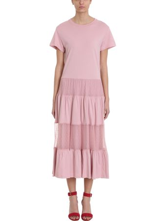 RED Valentino Pink Jersey Long Dress