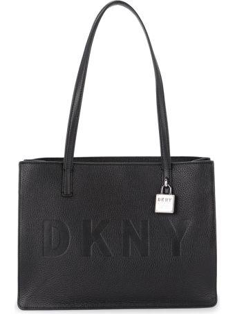DKNY Commuter Medium Black Leather Shoulder Bag