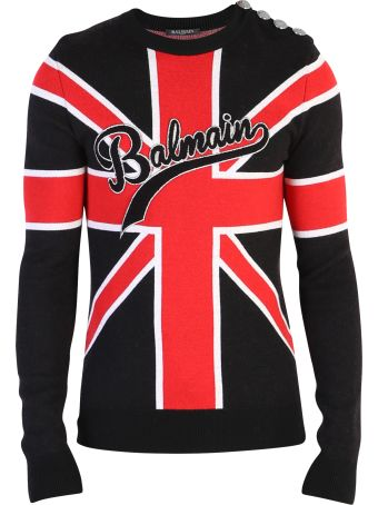 Balmain Multicolored Branded Sweater