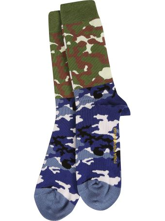 Gosha Rubchinskiy Camouflage Print Socks
