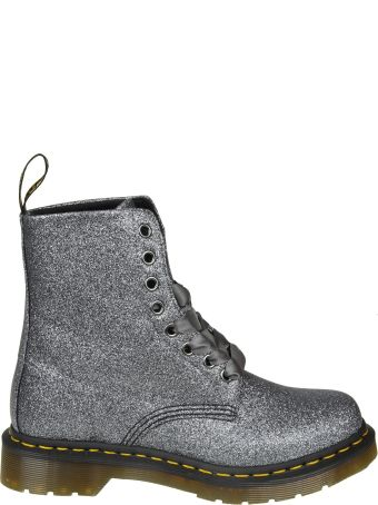 "Dr. Martens Dr.martens ""pascal"" Boots In Glittered Anthracite Leather"