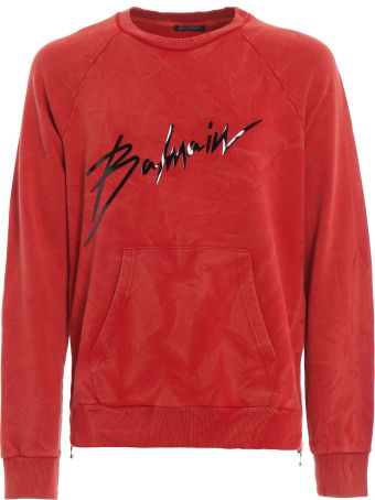 Balmain Balmain Logo Print Sweatshirt Rh13102j9283aa