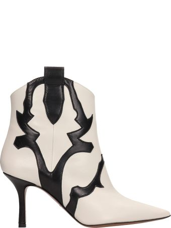 Marc Ellis Beige And Black Ankle Boots