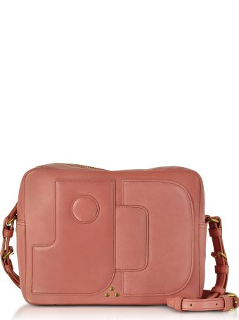 Jerome Dreyfuss Dominique Rose Leather Crossbody Bag