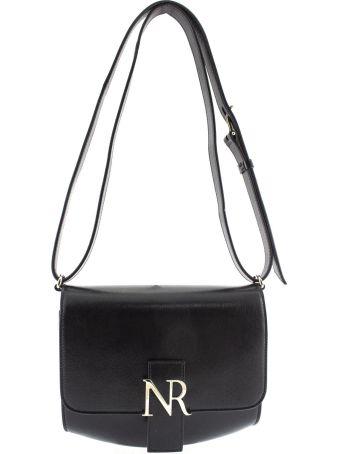 Nina Ricci Shoulder Bag In Black Leather.