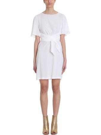 L'Autre Chose White Cr?pe Dress