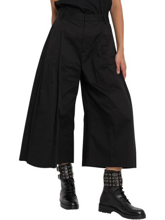 Moncler Genius Wide Cropped Pants By Noir Kei Ninomiya
