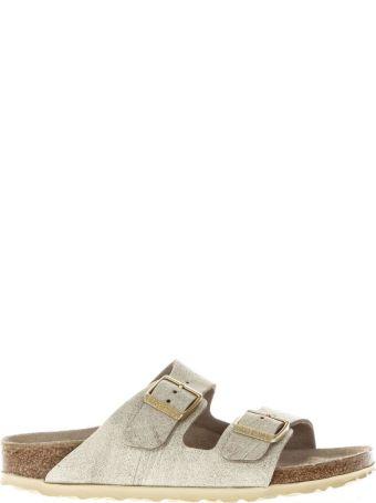Birkenstock Cream Nabuk Sandals