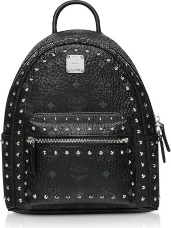 MCM Studded Outline Visetos Stark Backpack