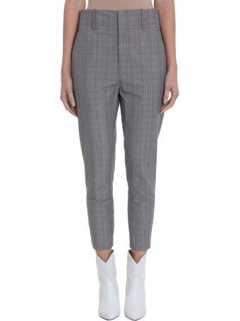 Isabel Marant Étoile Noah Checked Cotton-blend Crop Trousers