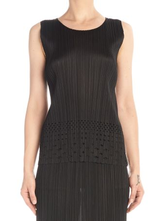 Pleats Please Issey Miyake 'dots Lace' Top