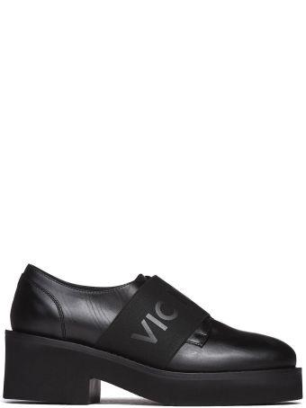 Vic Matié Black Slip-on Shoes